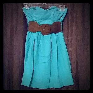 Body Central,  Sleeveless Belted Top, Size Small